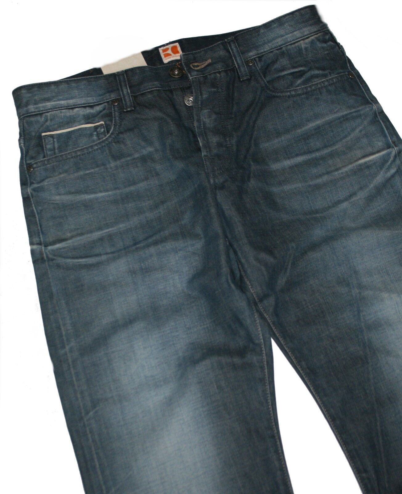 HUGO BOSS 50210361 MEDIO DENIM blue ARANCIONE 25 Cimosa Bash regular fit jeans