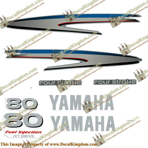 Yamaha 80hp 4-Stroke Jet Drive Decal Kit