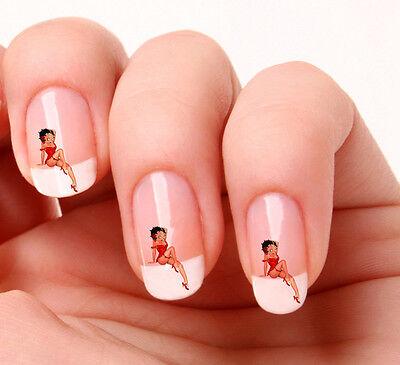 20 Nail Art Calcomanías Pegatinas # 224 - Betty Boop