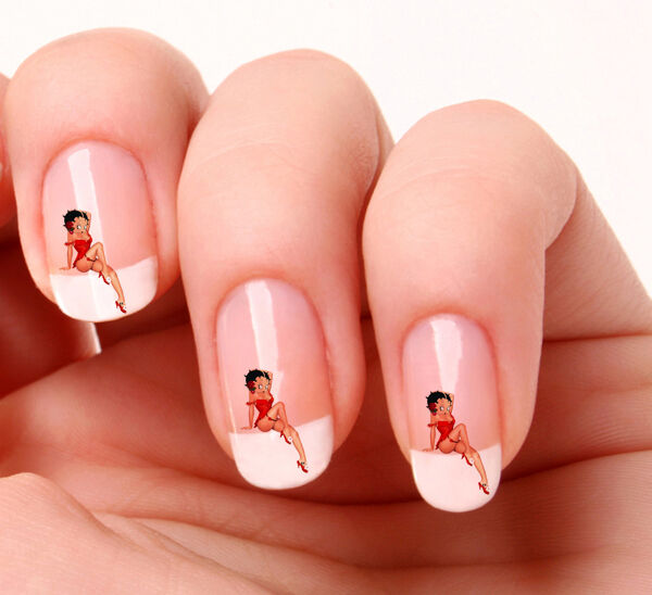 20 Nail Art Decals Transfers Stickers #224 - Betty Boop | eBay