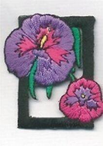 Encadré Violet Orchidée Fleur Broderie Patch