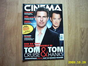 TOM CRUISE on front cover Cinema 05/06 Polish mag. -  Wałbrzych, Polska - TOM CRUISE on front cover Cinema 05/06 Polish mag. -  Wałbrzych, Polska
