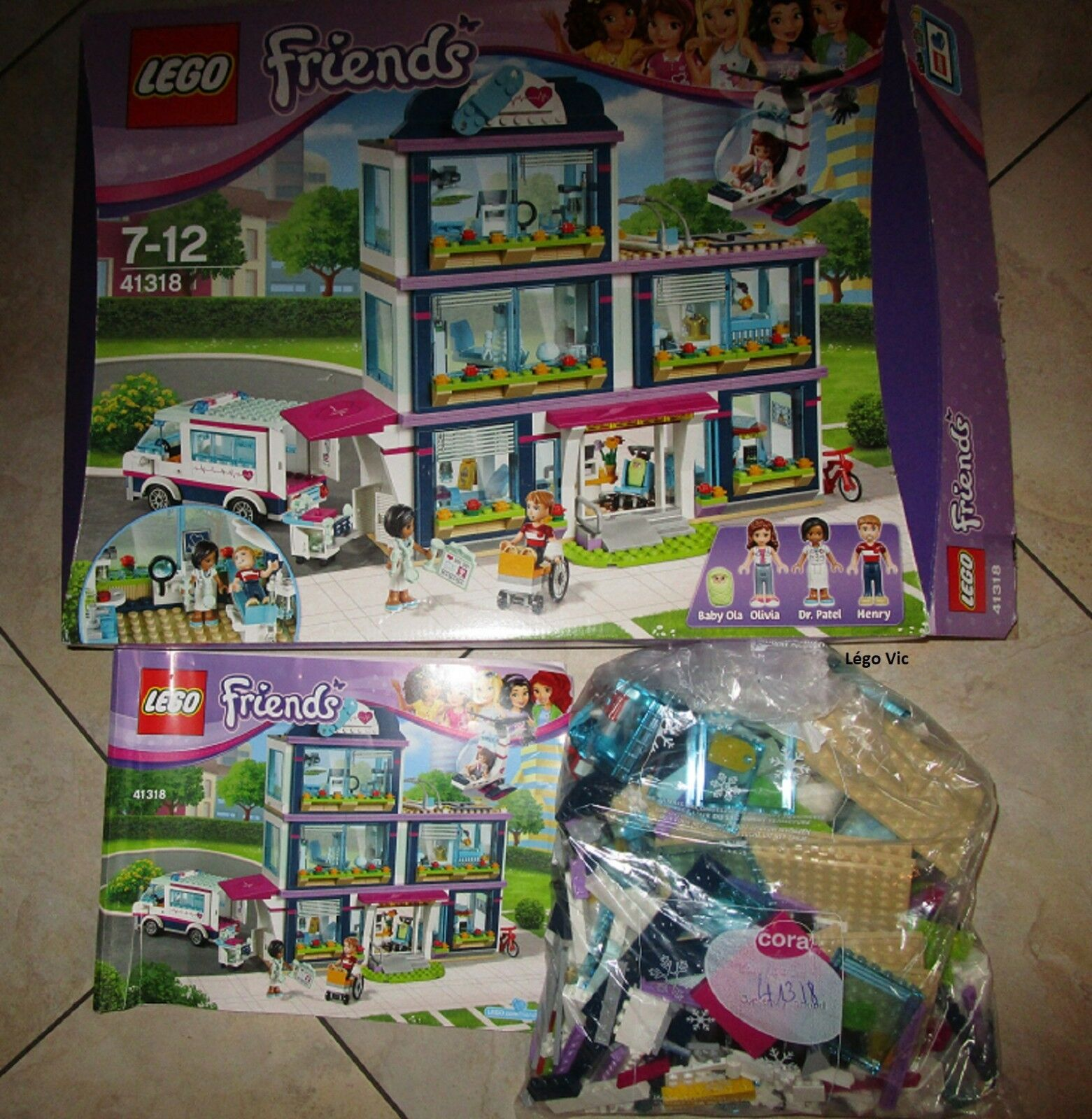 Lego 41318 Friends Heartlake Hospital Hopital Notice Boite Boite Boite Box CNB87 9aa040