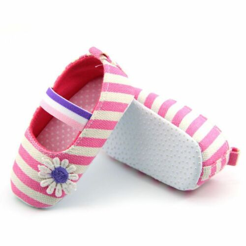 HOT Infant Newborn Baby Girls Princess Non-Slip Flower Shoes Toddler
