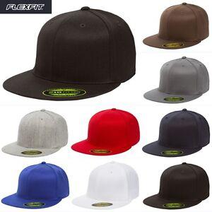 232c8734a306c Yupoong Flexfit 6210 Premium 210 Fitted Hat Baseball Plain Blank Cap ...