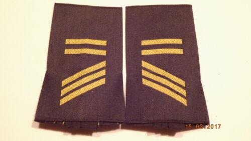 Bundeswehr Rangschlaufen Marine gelb auf blau Hauptgefreiter BA 1 paar