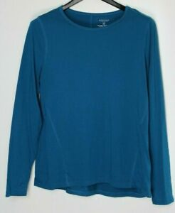 SONOMA-Plus-Size-Women-039-s-Long-Sleeve-Top-Turquoise-Blue-Size-1X