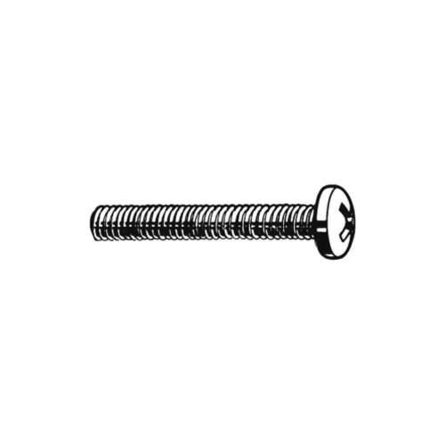 FABORY U51122.008.0050 Mach Screw,Pan,2-56 x 1//2 L,PK100