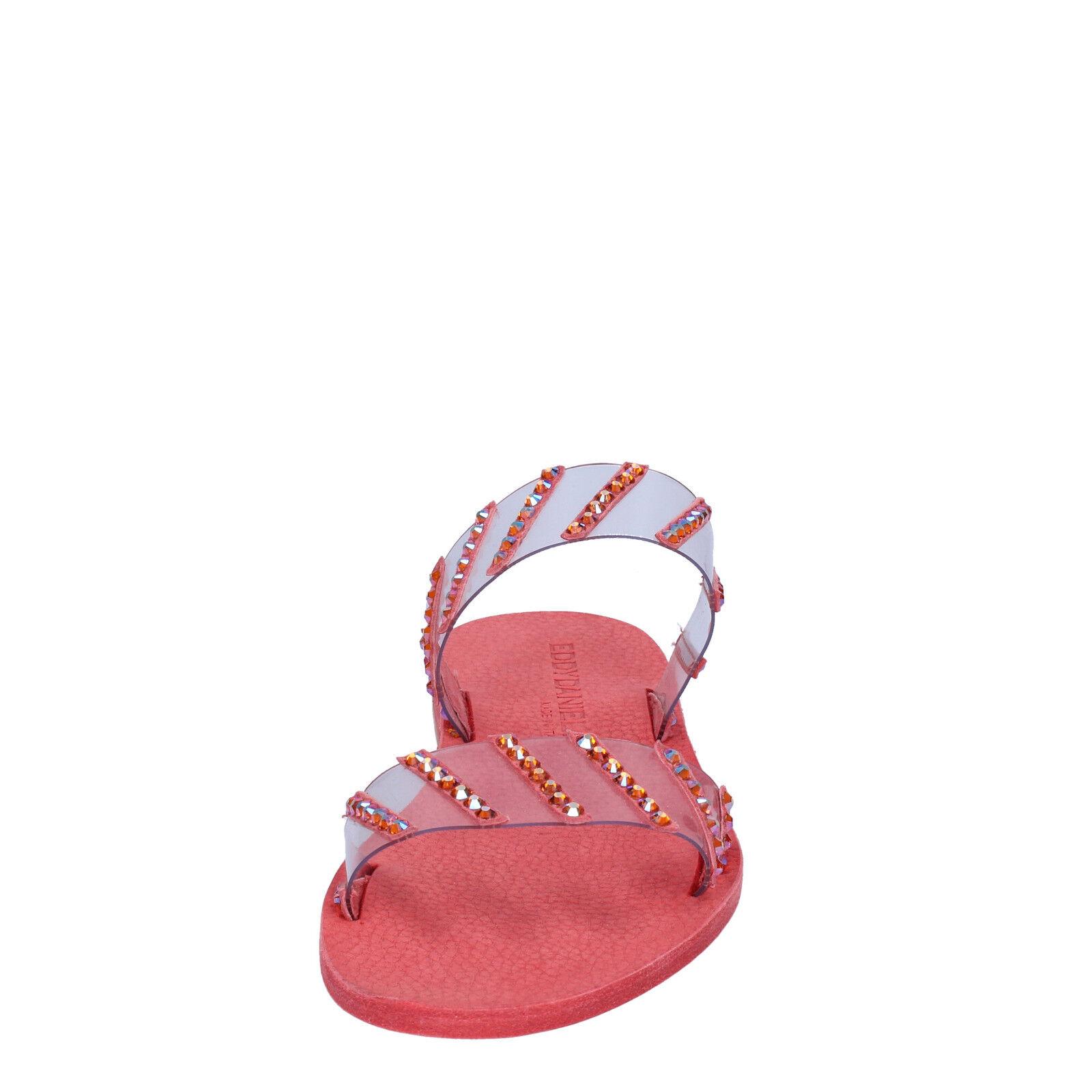 Damen schuhe sandalen EDDY DANIELE 37 EU sandalen schuhe rot swarovski AW463 07ddb9