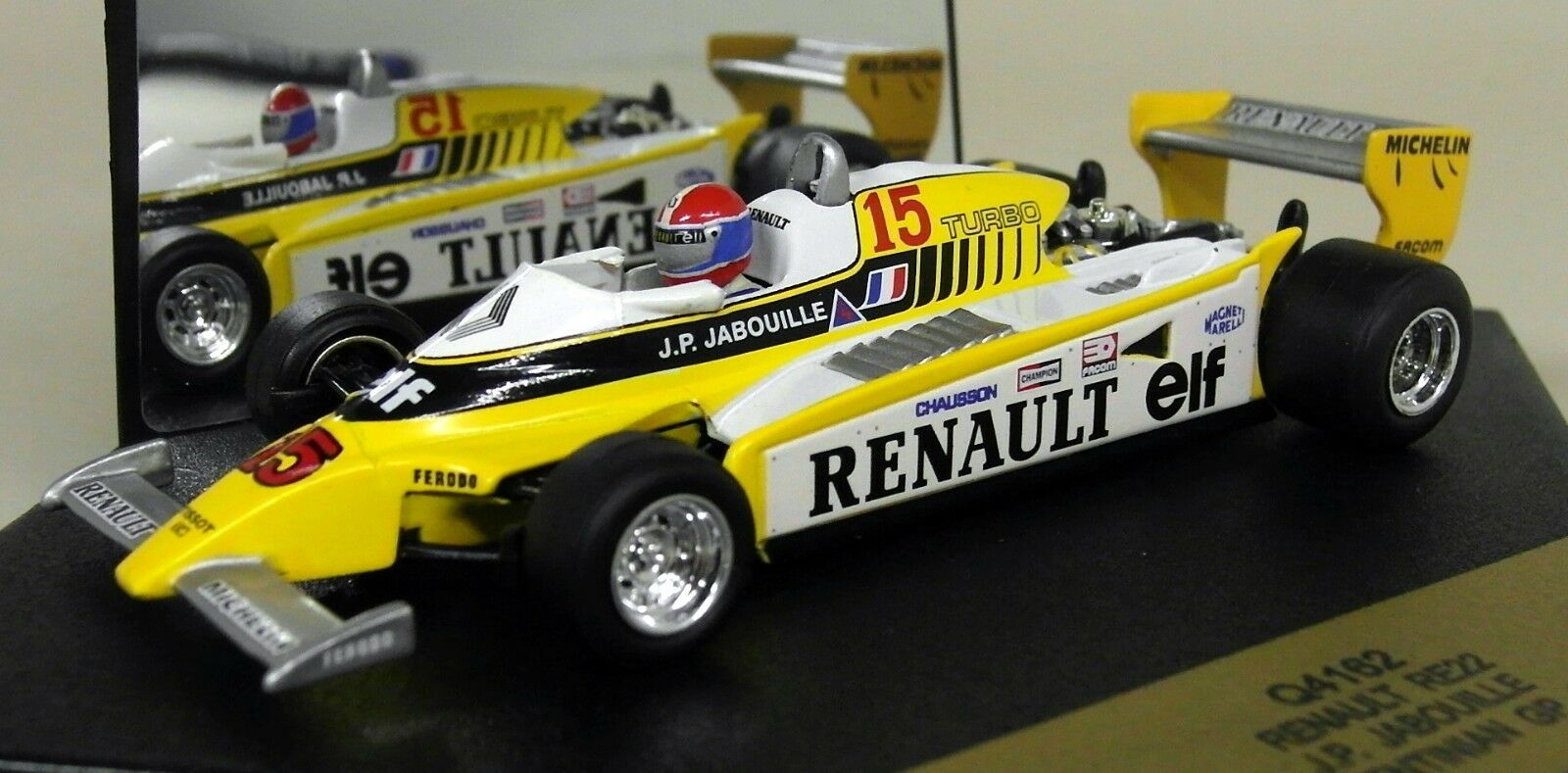 Quartzo SCALA  Q4162 RENAULT RE22 plataINA GP 1980 JABOUILLE Diecast F1 AUTO