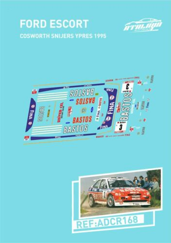 Decals ford escort cosworth snijers ypres 1995
