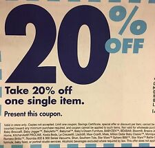Lot of 25 TWENTY BED BATH & BEYOND 20% off Item EXPIRED COUPONS Wedding Home
