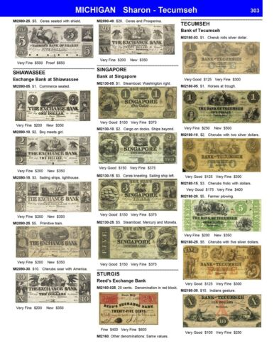 US Obsolete Paper Money A Guide With Prices Spiral New Catalog Pricelist Best