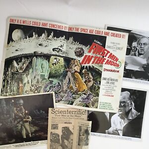 Vintage-Movie-First-Men-In-The-Moon-1964-Lobby-Card-Style-Poster-Photos-Stills