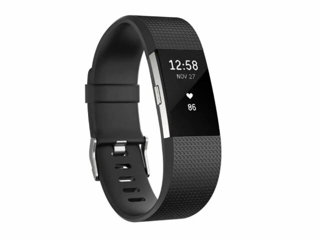 FITBIT CHARGE 2 PLUM BLACK SILVER - SMALL LARGE