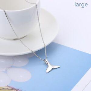 geschenke frauen 925 versilbert fischschwanz halskette delfine anhänger kette