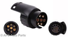 De 7 a 13 Pin Remolque Camión Remolque Bar Adaptador Enchufe eléctrico Impermeable Socket W44