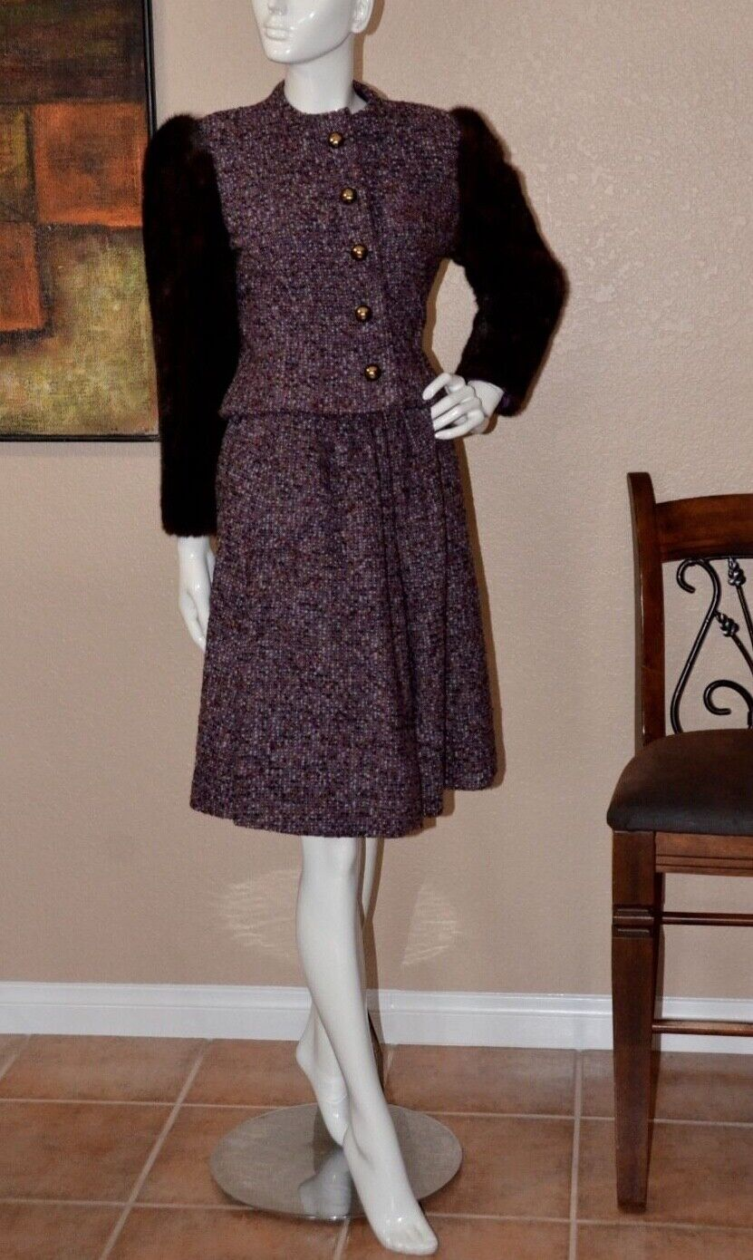 Arnold Scaasi Couture Stunning Vintage Mink Cropp… - image 1
