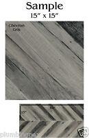 Refin Ceramiche Chevron Italian Floor Tile Lj42 Gris 15 X 15 Sample