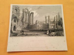 KF-Original-1842-Abbey-of-Arbroath-Saint-Thomas-Becket-Scotland-Print-Engraving