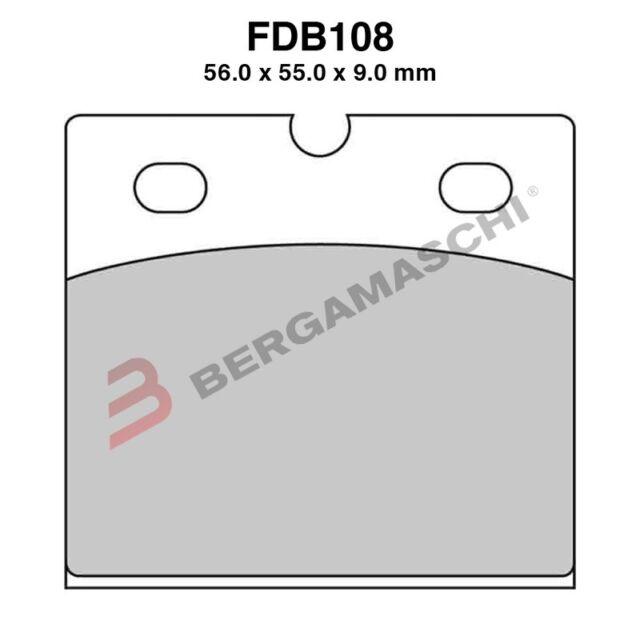 PASTIGLIE FERODO FDB108EF APRILIA AF1 2 REPLICA 250 CC ANNI