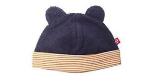Zutano Cozie FLEECE HAT 6m Navy Blue BABY BEAR EARS Boy Girl NEW  f2ecdb9c5d92