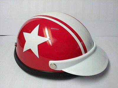 Helmet Hat Cap Dog Cat Costume Accessory Pet Supplies Safety White Star Red