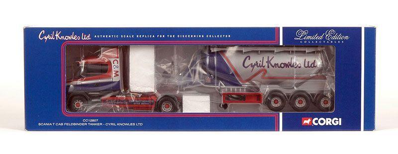 Corgi Modern Heavy Haulage CC12807 Scania T Cab Tanker Cyril Knowles 1 50