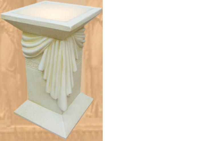 Design Säulenlampe mit Schärpe Leuchte Lampe Steh Lampen Beleuchtung 6864 Neu