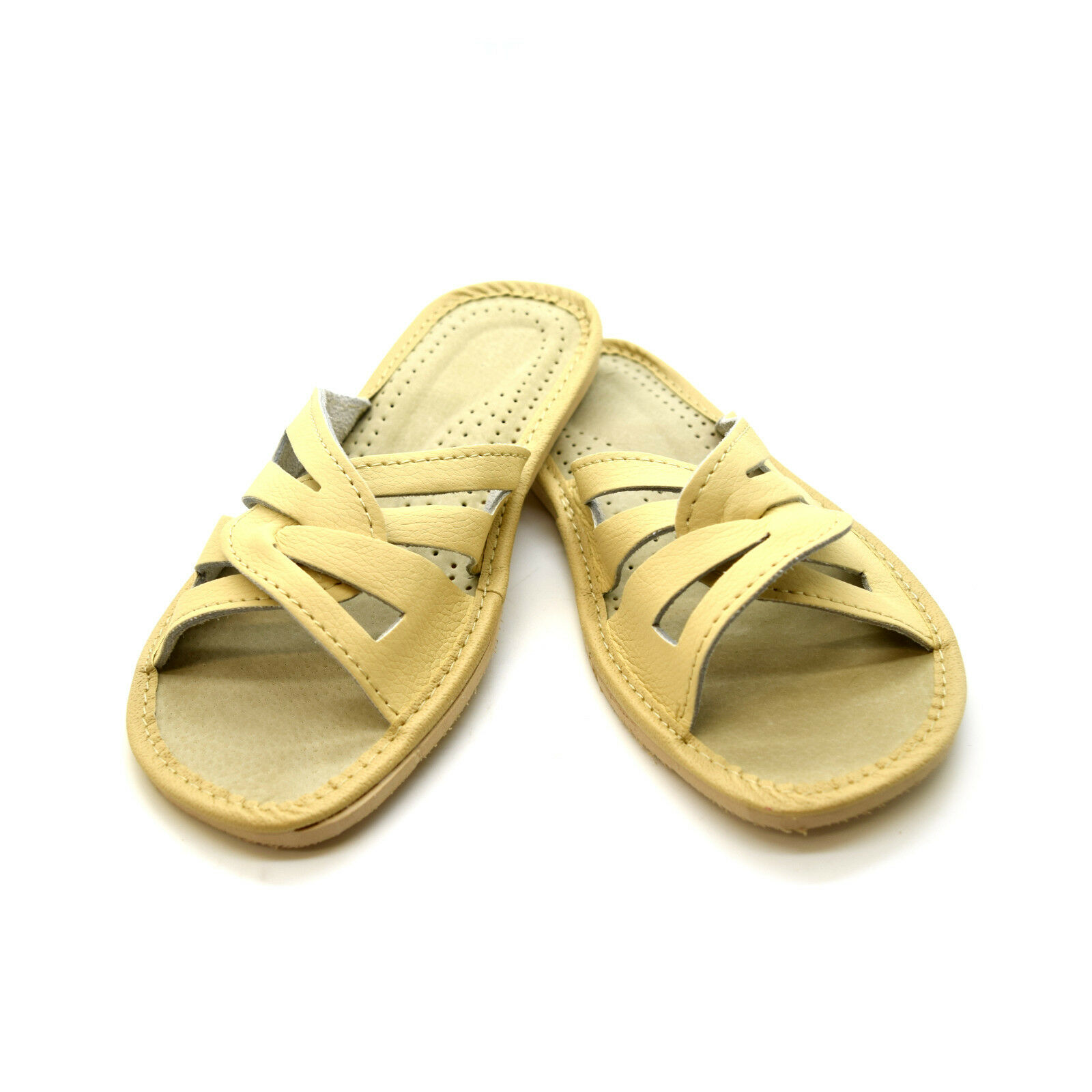 BEIGE Womens Ladies Slippers Shoes Sandals 6 Size 3 4 5 6 Sandals 7 8 Eco Leather KP1 95a6be