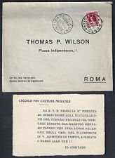 VATICAN 1929 FDC Sc 8 FIRST DAY COVER VATICAN POST TO ROME INCLUDES ENCLOSURE