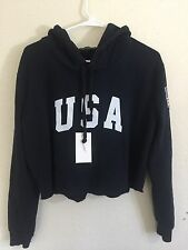 NEW! Brandy Melville Navy Blue fleece-lined pullover USA Lennon hoodie NWT