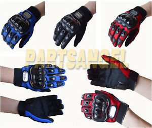 Breathable-Full-Finger-Motorcycle-Motorbike-Riding-Armor-Polyester-Gloves-L-XL