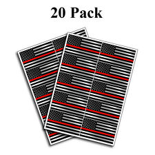 Pack of 20 Police Officer Thin red Line American Flag decal sticker graphic blue