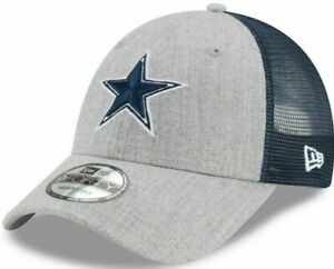 Dallas-Cowboys-Heathered-Turn-Trucker-Mesh-9FORTY-Adjustable-Snapback-Hat-Cap