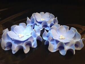 Das Bild Wird Geladen Torte Blumen Zuckerblumen Tortendeko Geburtstag Deko  Fondant HochzeitTorte