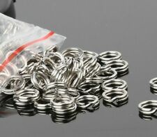 1000 Count SIZE #2 Heavy Duty Stainless Steel Split Rings Bulk Pack MADE IN USA