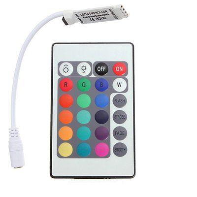24 Tasten Mini IR Remote Controller fuer RGB LED Strip Streifen GY