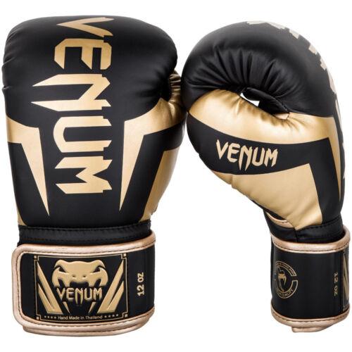 VENUM Elite Guantoni da Boxe nero//oro mma thai boxe kick boxe allenamento