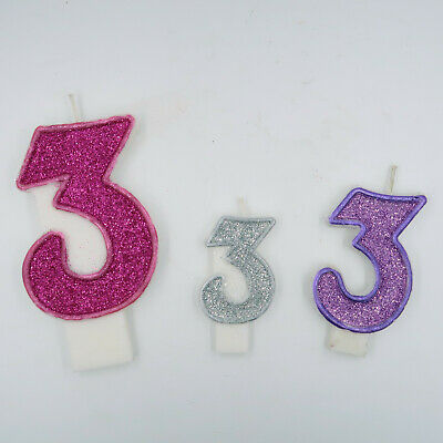 Glitter birthday candle number 4 3 inches,3.5 inches ,5inches