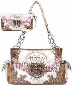 Image Is Loading Embroidery Wings Scripture Purse Western Handbags Totes Shoulder