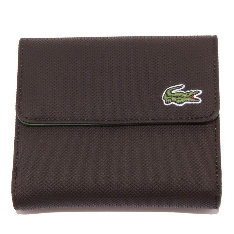 7459r Portafogli Donna Lacoste Senza Scatola Marrone Wallet Portfolio Women