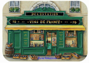 6-Paris-French-Art-VINS-DE-FRANCE-Wine-Store-Holiday-Gift-New-Plastic-Placemats