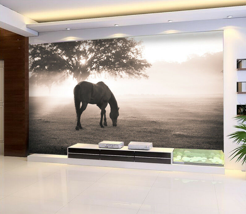 3D Image Horse 4 Wallpaper Murals Wall Print Wallpaper Mural AJ WALL AU Lemon