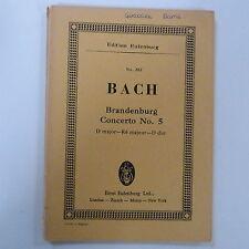 mini pocket score BACH Brandenburg concerto 5 D major, eulenburg 282