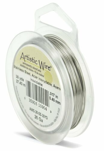 Beadalon 30-Yards Stainless Steel Artistic 26-Gauge Wire