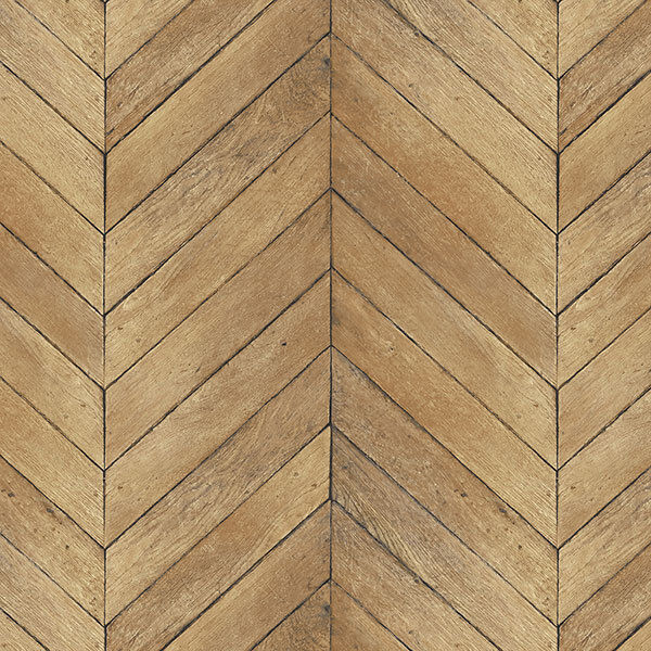 Golden Pecan Herringbone Wood Solid Vinyl On Paste The Wall Wallpaper G67998 Ebay