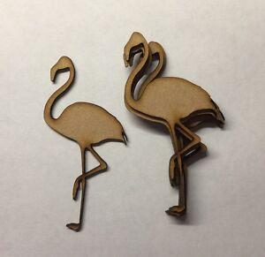 Capable En Bois Flamingo Craft Formes Décorations 3 Mm En Blanc Mdf épais Embellissement-afficher Le Titre D'origine Peut êTre à Plusieurs Reprises Replié.