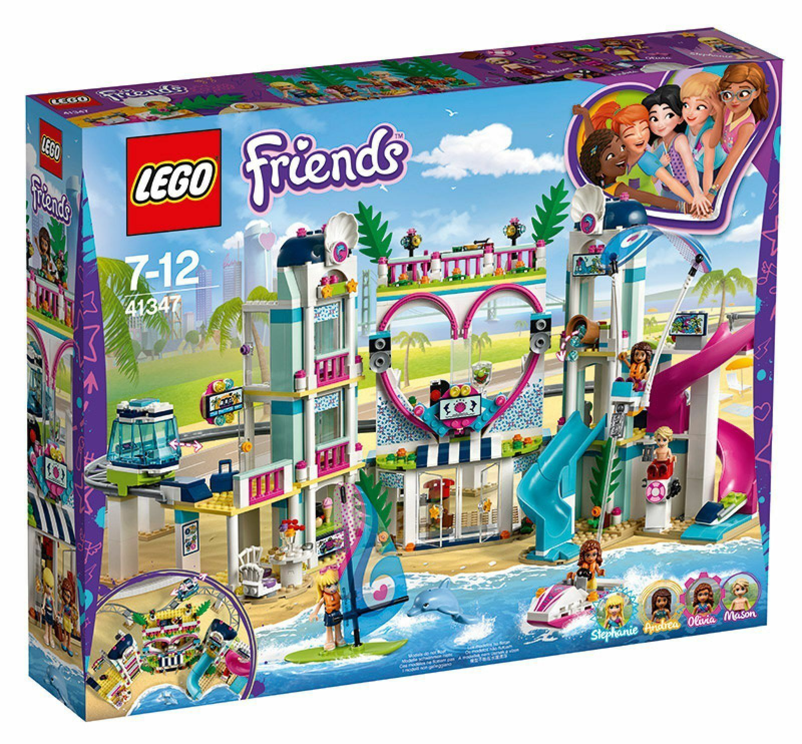 elementi di novità LEGO FRIENDS 41347 IL RESORT RESORT RESORT DI HEARTLAKE città  NUOVO  fornire un prodotto di qualità
