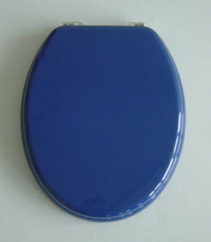 verstellbare Metallscharniere ADOB WC Sitz Klobrille mit Holzkern 87065 blau